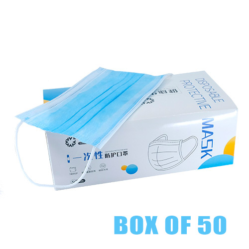 Disposable Protective Face Masks - Box of 50