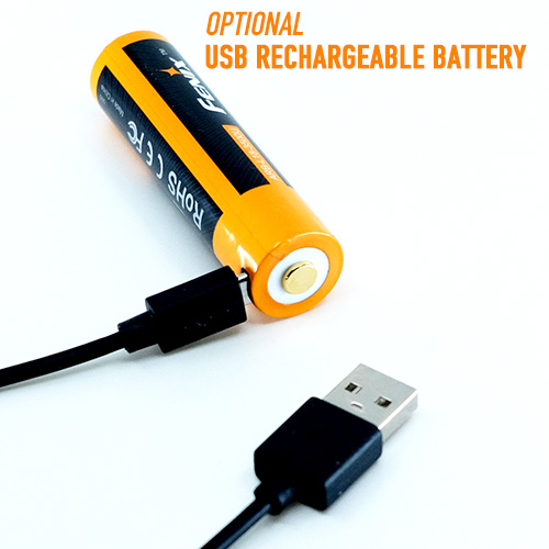 optional USB rechargeable battery