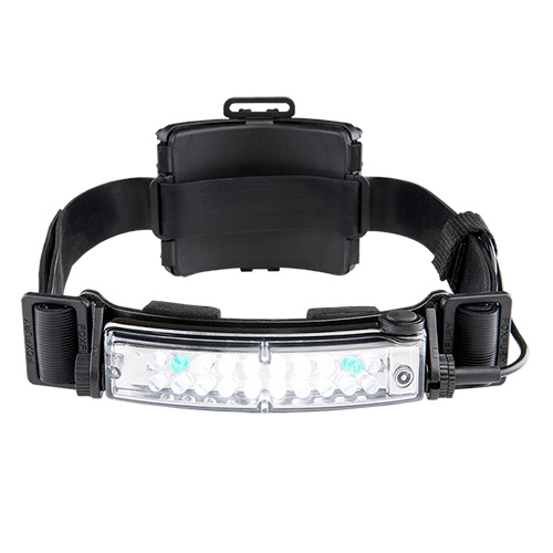 FoxFury Command Plus Tilt Headlamp Helmet Light with white and green LEDs