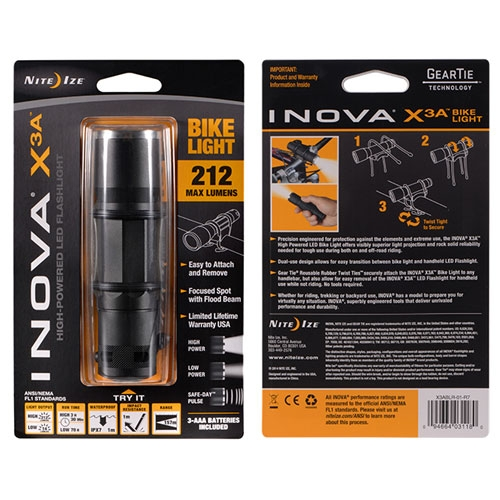 Inova X3A Flashlight with Bike Mount