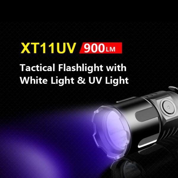Klarus XT11UV Rechargeable Flashlight