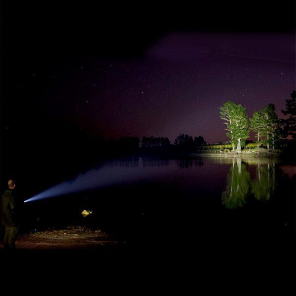 LED Lenser P7R Core Rechargeable Flashlight distance