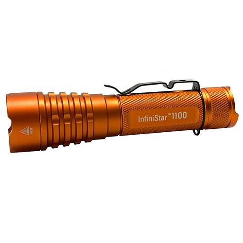 InfiniStar 700 LED Flashlight Micro-USB Rechargeable 700 Titanium Grey