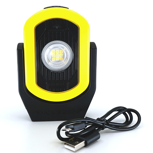 Maxxeon WorkStar Cyclops Rechargeable Worklight Yellow