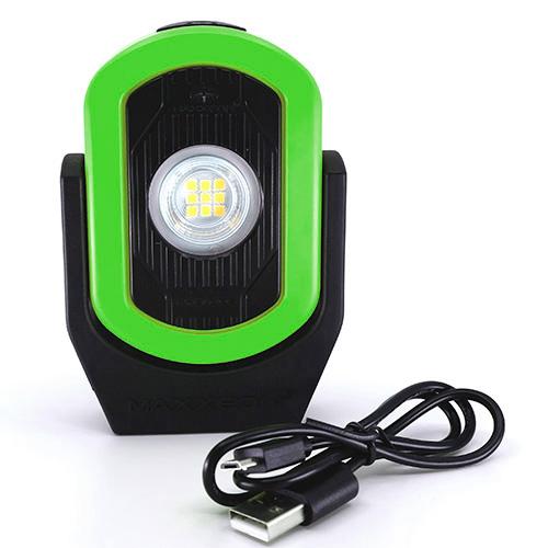 Maxxeon WorkStar Cyclops Rechargeable Worklight Green