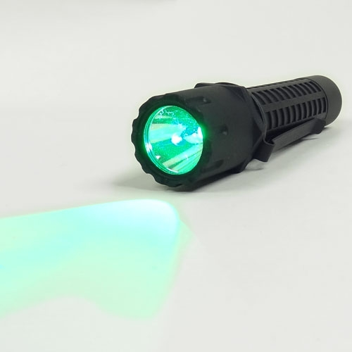 Nightstick Tactical Flashlight with Green LED