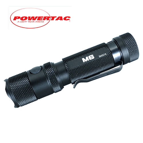 Powertac M6 Rechargeable Flashlight with Magnetic Base