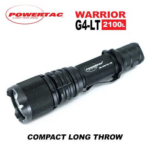 Powertac Warrior G4LT Long Throw Tactical Flashlight