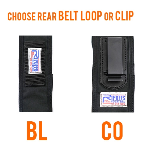 Ripoffs Flashlight Holster BL166DS and CO166DS
