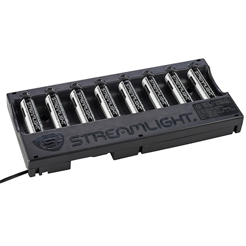 Streamlight 18650 Battery Bank Charger with batteries