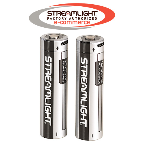 Streamlight 18650 USB rechargeable battery- 2 pack