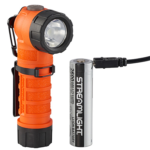 Streamlight PolyTac 90X Multi Fuel Flashlight, USB orange