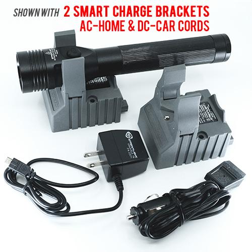 Stinger DS LED HL, AC & DC SMART chargers, Black - 800 lumens