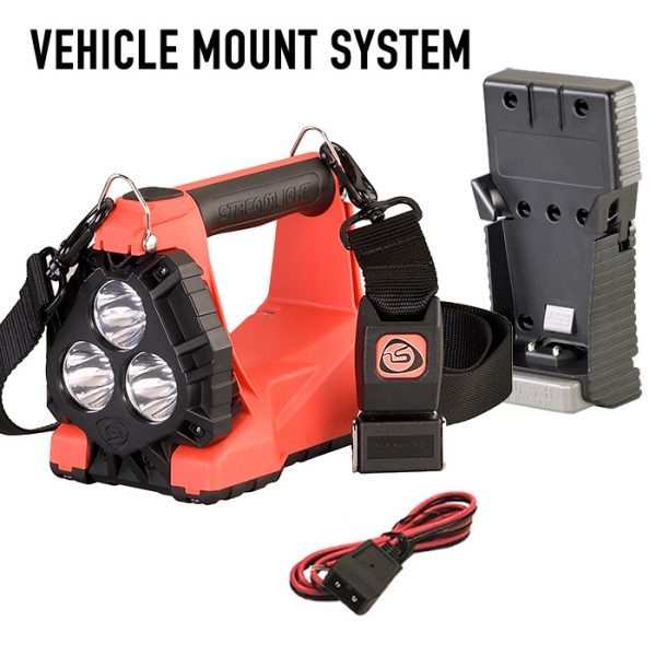 Streamlight Vulcan 180 HAZ-LO Intrinsically Safe Rechargeable Lantern Orange Vehicle Mount System