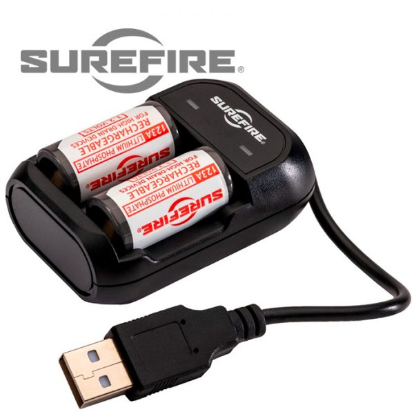 Surefire 123A Rechargeable Batteries with charger