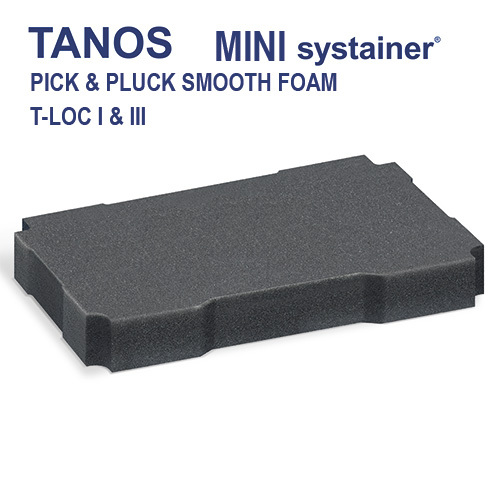 Tanos Mini systainer Pick & Pluck foam 80101376