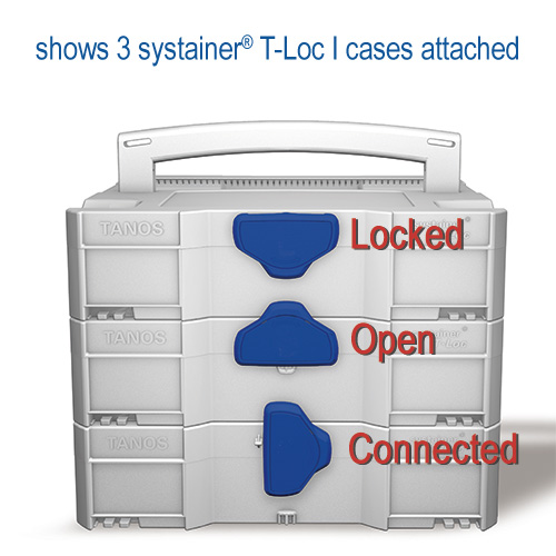 TANOS systainer T-Loc cases connected