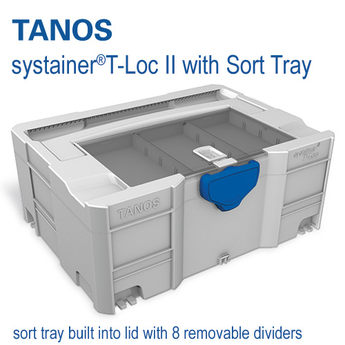 Tanos systainer T-Loc II with lid sort tray