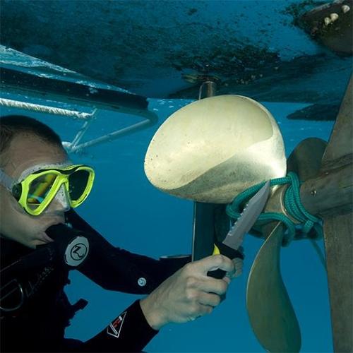 Underwater Kinetics Blue Tang Titanium Dive Knife