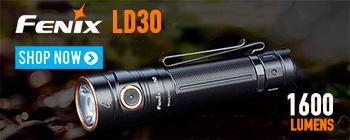 New Fenix LD30 - ultra compact tactical flashlight