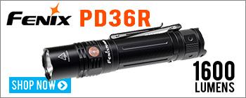 New Fenix PD36R USB Rechargeable Flashlight