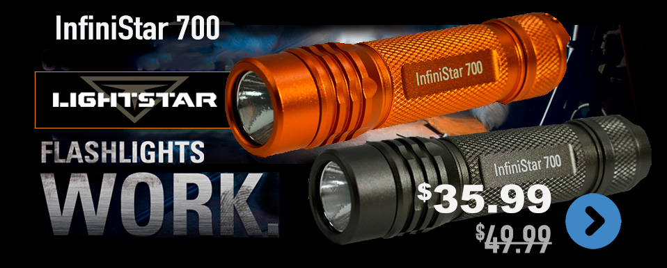 Infinistar 700 compact rechargeable flashlight