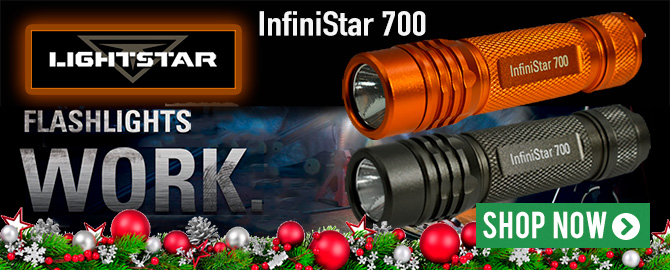 Lightstar InfiniStar 700 Flashlight with USB rechargeable battery
