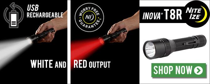 Inova T8R Dual Output-Color Flashlight
