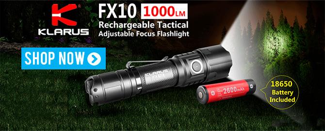 Klarus FX10 Flashlight with adjustable focus