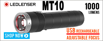 LED Lenser MT10 Rechargeable flashlight with adjustable focus