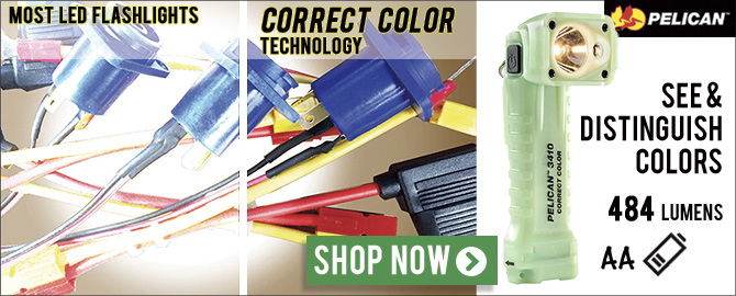 Pelican 3410MCC Correct Color Flashlight - See and distinguish colors