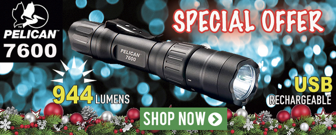 Pelican 7600 Multi-Color USB Rechargeable Flashlight - Special Offer