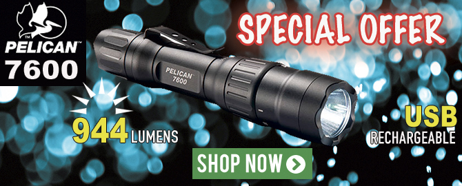 Pelican 7600 Rechargeable Flashlight - special offer