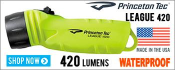 Princeton Tec League 420 - waterproof flashlight
