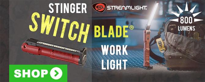 New Streamlight Stinger Switchblade USB Rechargeable Work Light
