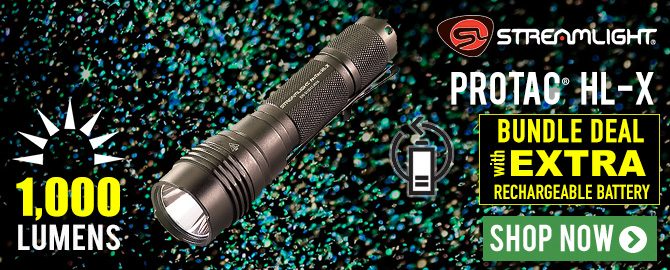 Streamlight® ProTac® HL-X special Bundle offer with extra USB rechargeable battery