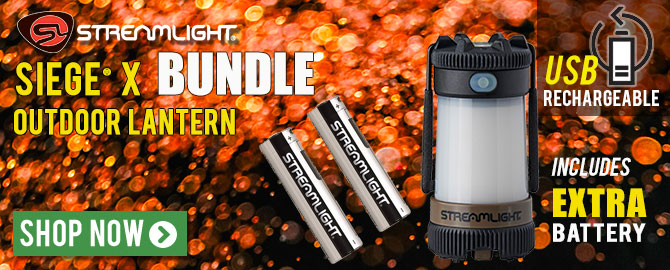 Streamlight® Siege® X Bundle Offer - includes 2 USB rechargeable batteries