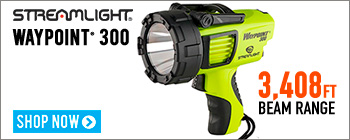 Streamlight WayPoint® 300 Rechargeable Spotlight - now with 3,408 foot beam range